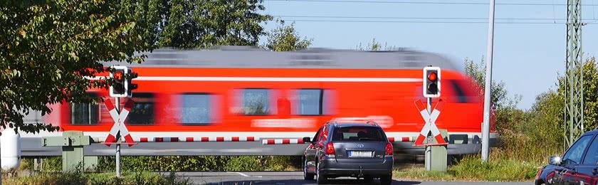 Verstöße am Bahnübergang